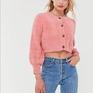 ISO Whitney mohair crop cardigan